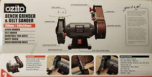 Miraculous Details About Ozito 150Mm Bench Grinder Belt Sander With Safety Shields Adjustable Tool Rest Short Links Chair Design For Home Short Linksinfo