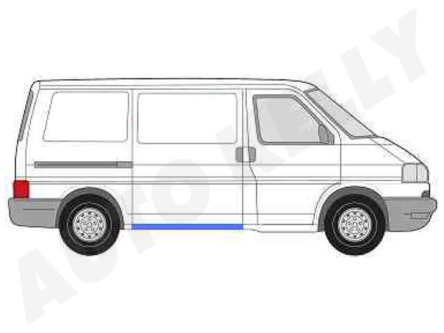 VW t4 Transporter Bus CASSETTA LAMIERA RIPARAZIONE PARAFANGO ANTERIORE DESTRO /& SINISTRO 90-03
