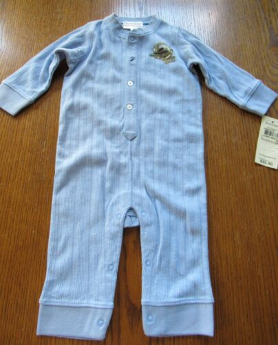 NWT Ralph Lauren Light Blue SOUTH SEAS Longall Romper Infant boy 6 mo OR 9 mo
