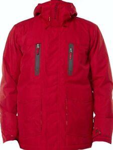 BILLABONG-Men-039-s-SOLID-INS-Snow-Jacket-Red-Medium-NWT