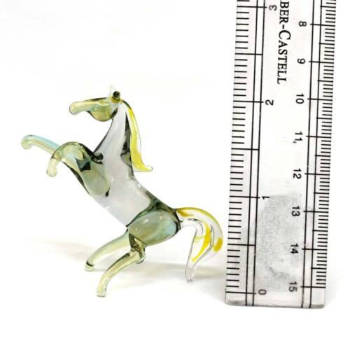 "#40 Blown art glass figurine /""Horse/"" Russian Handmade h=2 in"