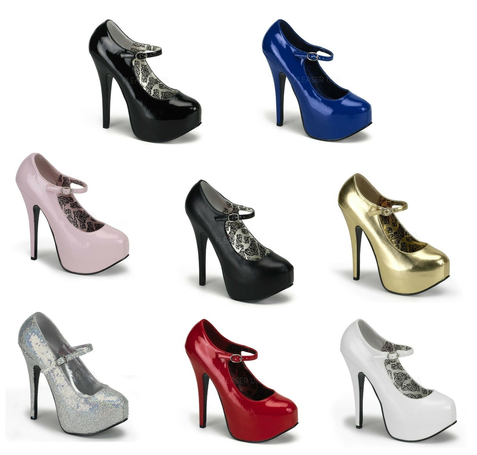 BORDELLO Sexy Platform Pumps Heel Mary Jane Teeze-07