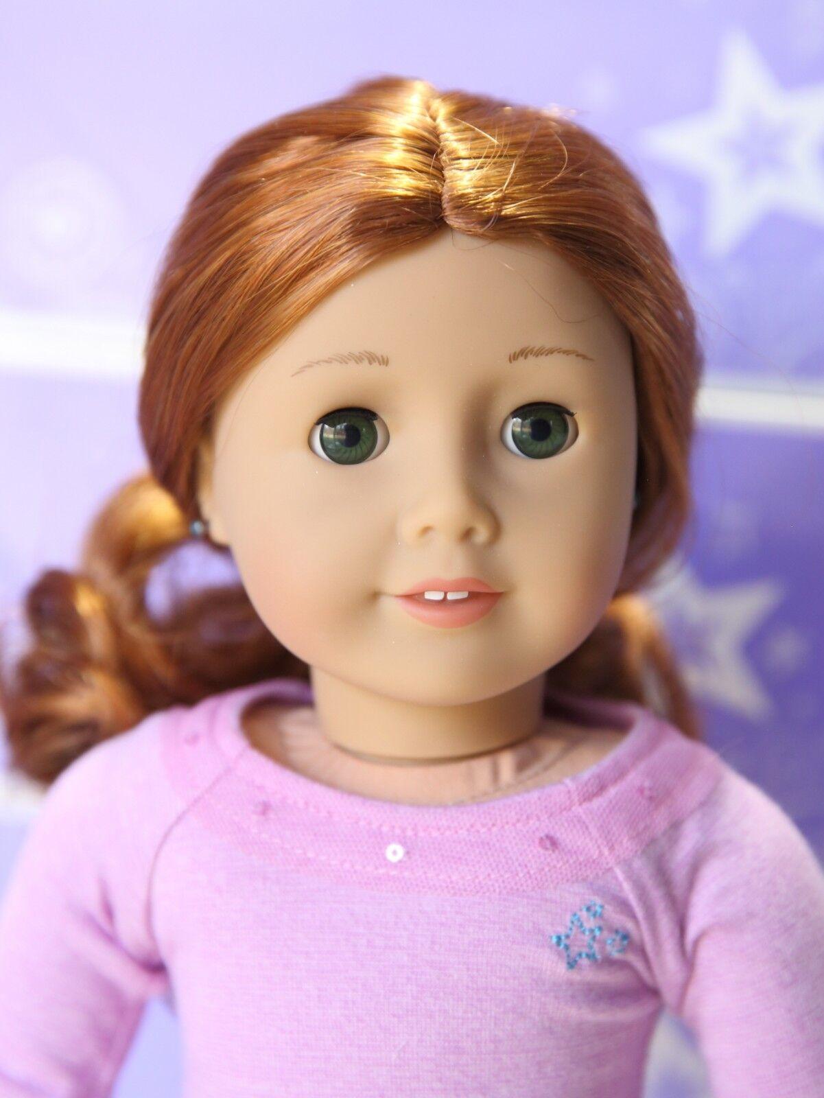 American Girl Doll 61 pendientes Audífono Cabello Rojo Ojos verdes nuevo realmente me
