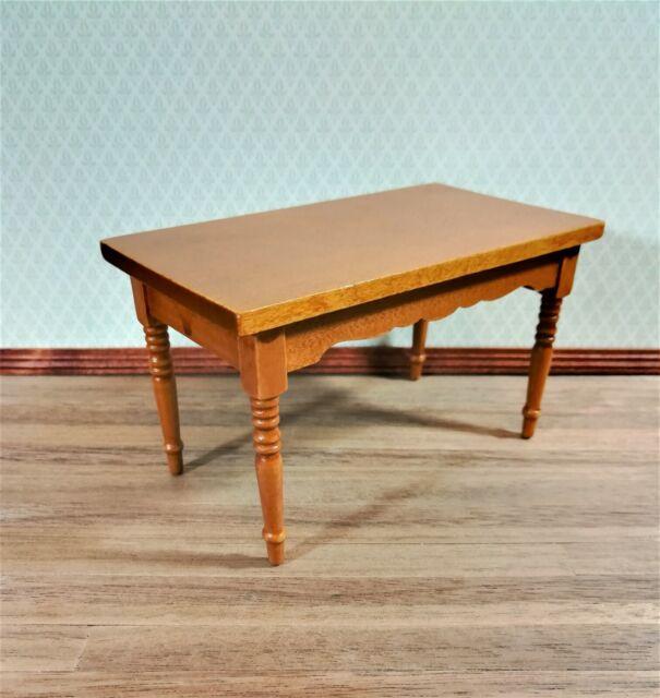 Miniature Aztec Natural Wood POTTING Table DOLLHOUSE 1:12 Scale