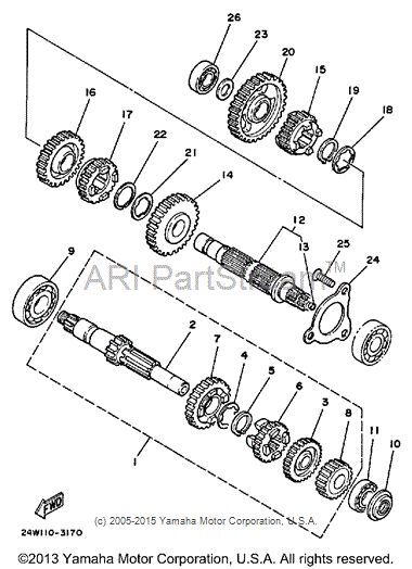 Yamaha G16 Piston Ring Diagram