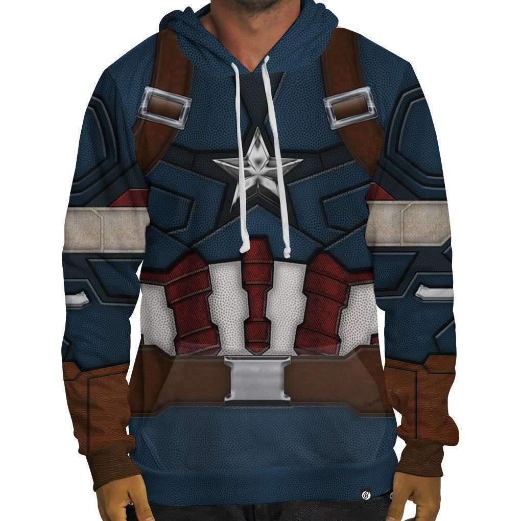 Nuovo Beloved Camicie Capitan America Felpa con Cappuccio SMALL-3XLARGE