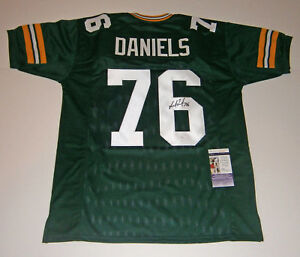 PACKERS-Mike-Daniels-signed-green-custom-jersey-w-76-JSA-COA-AUTO-Autographed