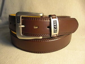 Jeans Mens Brown Genuine Leather Belt Size 40
