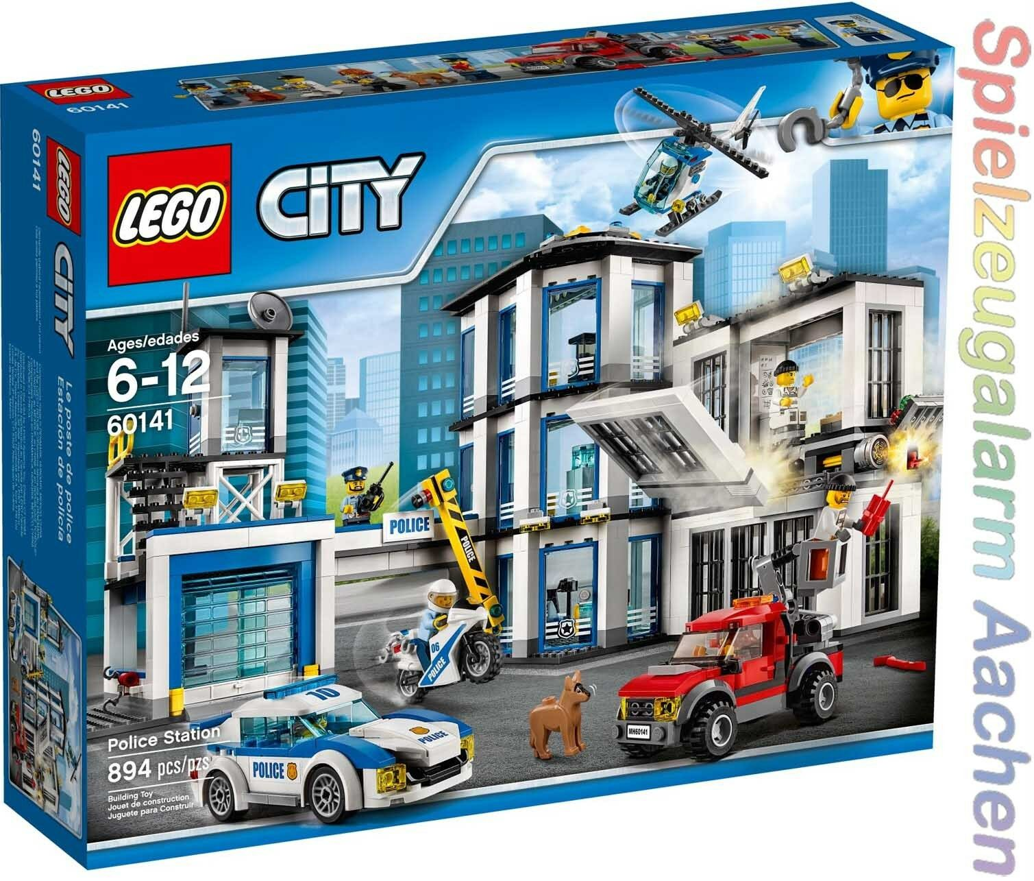 LEGO 60141 City Polizei Polizeiwache Police Station Le commissariat Neu  N1 17
