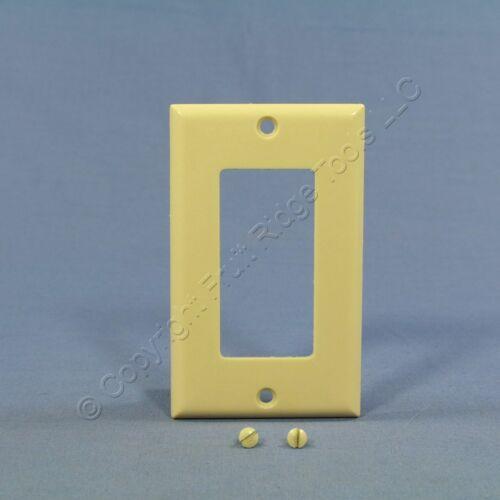 Eagle Ivory Standard 1-Gang Decorator GFI GFCI Cover Thermoset Wallplate 2151V
