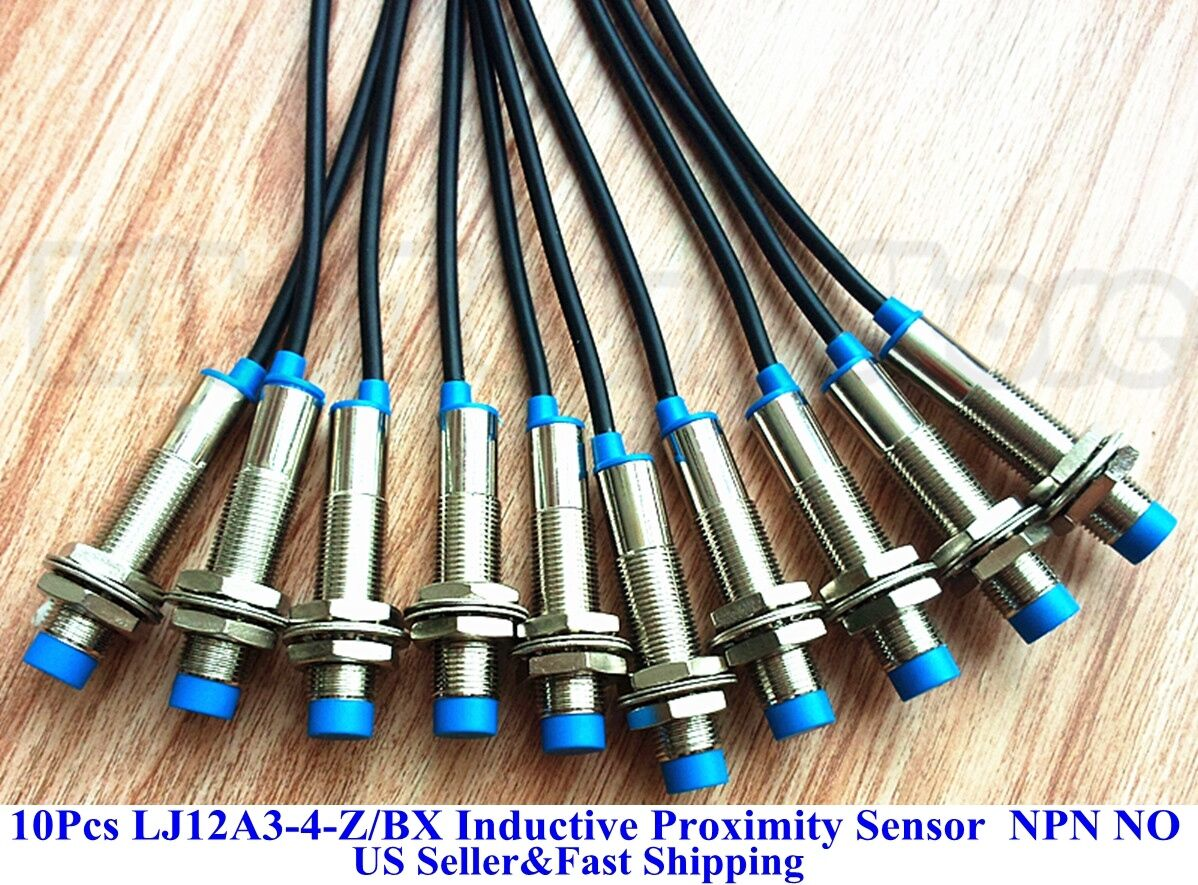 10Pcs LJ12A3-4-Z//BX NPN Nomal Open Inductive Proximity Sensor Switch DC6V-36V