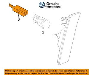 1c0945072k pages marqueur Luminaire Lampe marquage droit VW New Beetle Neuf
