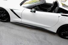 Chevrolet Corvette C7 Stingray CARBON FIBER Side Skirts Z06 style for base 14-16
