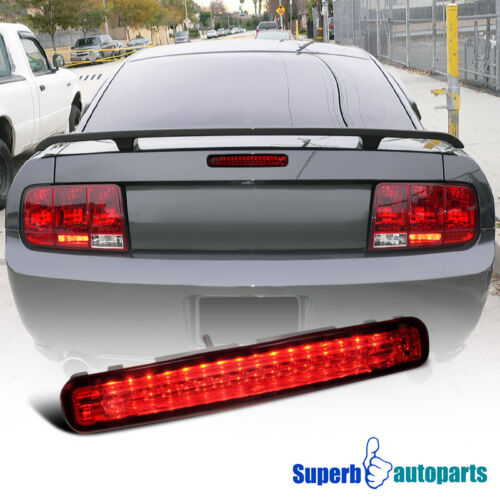 2005-2009 Ford Mustang LED 3rd Brake Lights Third Stop Lamp Red
