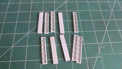 TCM Bricks Black 1x2 Tile Smooth Flat Finishing X100 Compatible Parts fits 3069