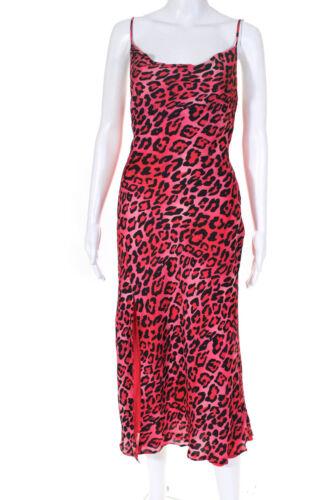 La Maison Talulah Womens Party Animal Print Midi Dress Red Black Size Small