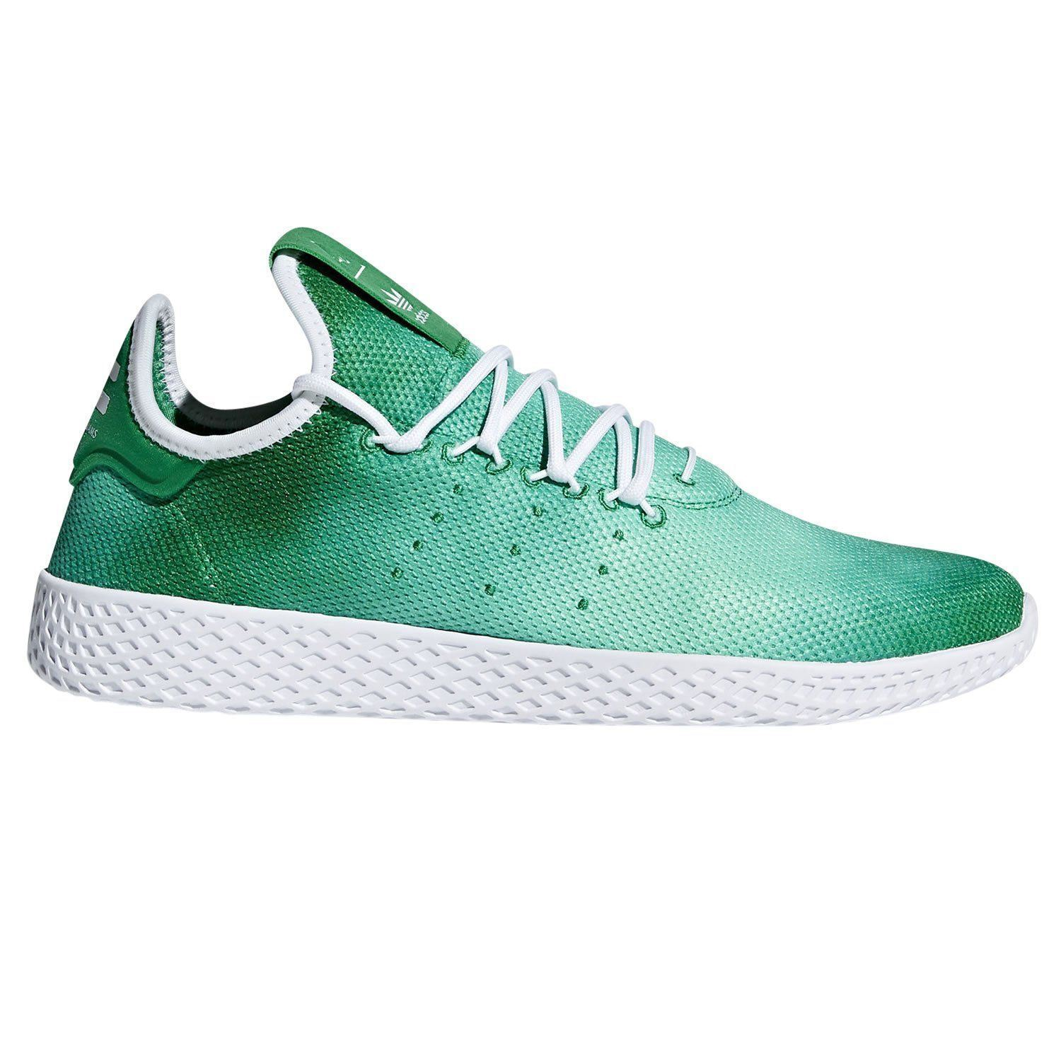 adidas ORIGINALS PHARRELL WILLIAMS HU TENNIS SHOE TRAINERS MEN'S GREEN COMFY NEW