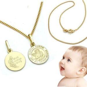 Baby Kinder Taufe Schutz Engel mit 36 cm Kette Silber 925 Anhänger Gottes Segen