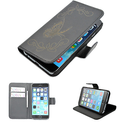 "Flip Leather Wallet Phone Protector Skin Case Cover For  4.7"" Apple iPhone 6"