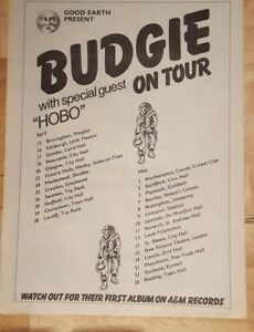 Budgie-hobo-tour-1976-press-advert-Full-page-26-x-39-cm-poster