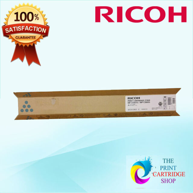 New & Original Ricoh 841471 Cyan Toner Cartridge MP C5501S MP C5000S