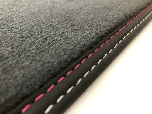 Fußmatten für Jaguar F-Type Velours anthrazit Nubuk Doppelnaht versch Farben