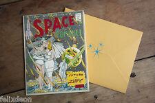 Space Romance Greeting Card Lesbian Greeting Card Lesbian Gay Art Felix dEon