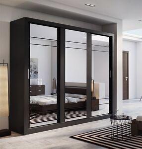 Image Is Loading Brand New Modern Bedroom 3 Sliding Door Mirror