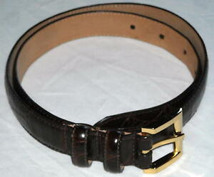 Nordstrom-Genuine-Italian-Calfskin-Leather-Brown-Belt-Sz-M-Ships-Free-in-the-USA