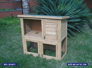 Details About New Wooden Rabbit Hutch Guinea Pig House Hut With Run Ferret Chicken Coop Ark