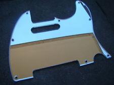 Telecaster guitar 62 pickguard 1ply mirror chrome fits fender brand new