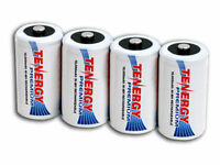 4 Tenergy Premium D-size D Nimh Rechargeable Batteries