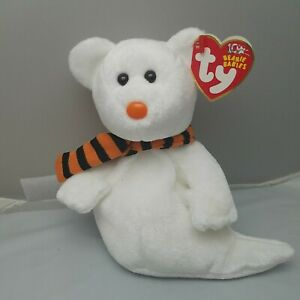 Ty Beanie Baby - QUIVERS the Halloween Ghost Bear NWT, 2003