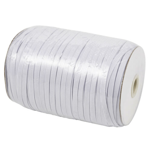 1Roll White Flat Elastic Cords Stretch Threads DIY Jewelry Craft String 4~14mm