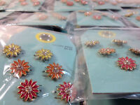 Liquidation Target Cheap Jewelry Lot Of 75 Packs $374 Stud Pierced Earrings
