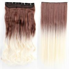 100%Real Natural Full Head Clip in Hair Extensions 1Pieces on Straight Wavy HG25
