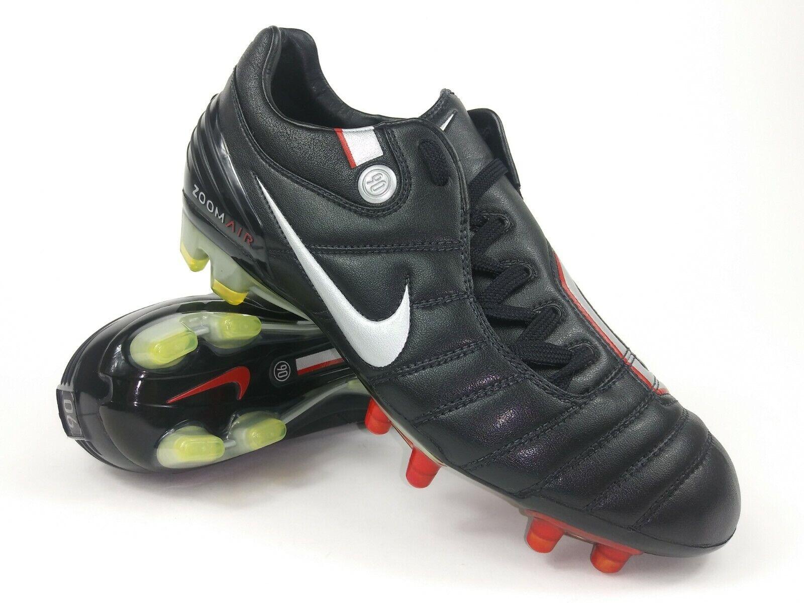 Rare Nike Air Zoom Total 90 supremacía FG 313969-006 Negro gris Botín Talla 6 para hombre