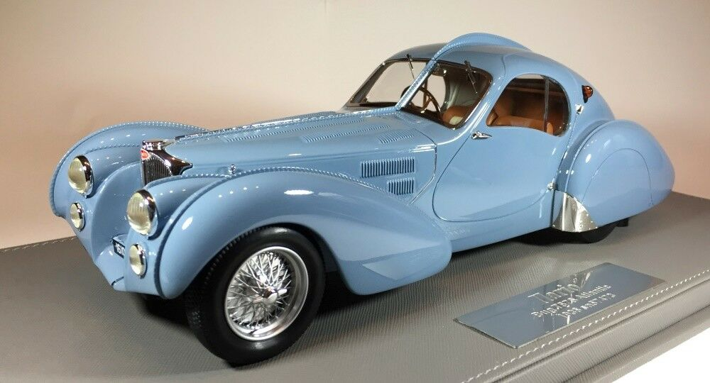 Bugatti T57S Atlantic 1936-Color Actual AzulGris Vin57473  por Ilario