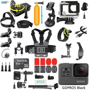 GoPro HERO 5 Black Edition Touch-Screen Camera + 40 PCS Sports Accessories