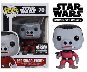 Funko Pop!   Boîte exclusive Cantina Bounty Exclusive Starter Smugglers Bounty Red Snaggletooth # 70