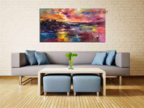 No Frame Modern Abstract Large Wall Decor Oil Painting On Art Canvas,Scenery