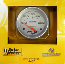 Auto Meter 4437 Ultra Lite Electric Water Temperature Gauge Temp 100 - 250 Deg