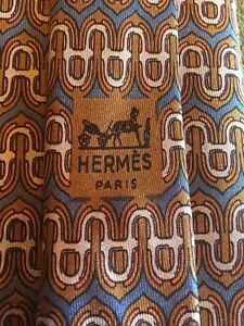 Hermes-Paris-Men-039-s-Neck-Tie-826-EA-100-Silk-Made-In-France-Rare