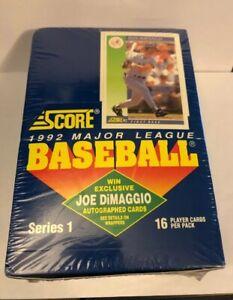 1992-SCORE-BASEBALL-SERIES-1-SEALED-FACTORY-BOX-JOE-DIMAGGIO-AUTO-POSSIBLE