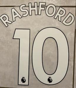 Flocage Nameset RASHFORD #10 Manchester United 2020/2021  Home Away .