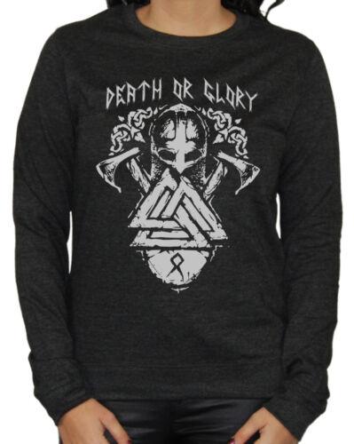 Death or Glory Damen Sweater Odin Thor Germanen Runen Wikinger Wacken Vikings