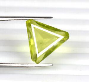 Pakistan Peridot Triangular Cut Gemstone 100% Natural 5.65 Ct Certified A33259