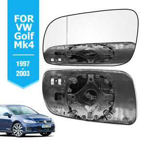 Left-Hand-Passenger-Side-For-VW-Golf-Mk4-1997-03-HEATED-Wing-Door-Mirror-Glass