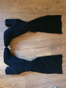 Ladies Carvela Wasp Black Heeled Knee