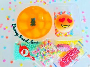 Nontoxic /_ Cute Bento Scented Slime Box With Squishy /_1-3 Business Days Shipping